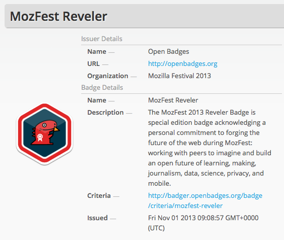 MozFest Open Badge